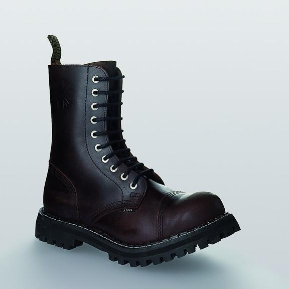 Bocanci Steel Boots Brown 10 inele