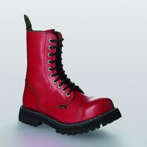Bocanci Steel Boots Full Red 10 inele