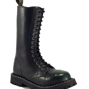 Bocanci Steel Boots Black Green 15 inele