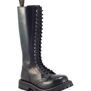 Bocanci Steel Boots Black Green 20 inele
