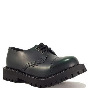 Bocanci Steel Boots Black Green 3 inele