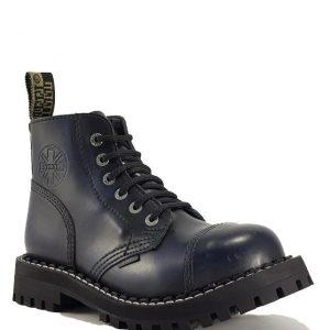 Bocanci Steel Boots Black Blue 6 inele