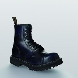 Bocanci Steel Boots Black Blue 8 inele