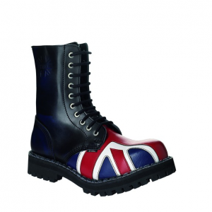 Bocanci Steel Boots Blue UK Flag 10 inele