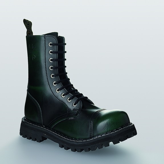 Bocanci Steel Boots Green Black 10 inele