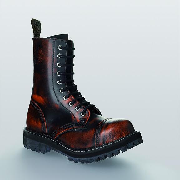 Bocanci Steel Boots Orange Black 10 inele