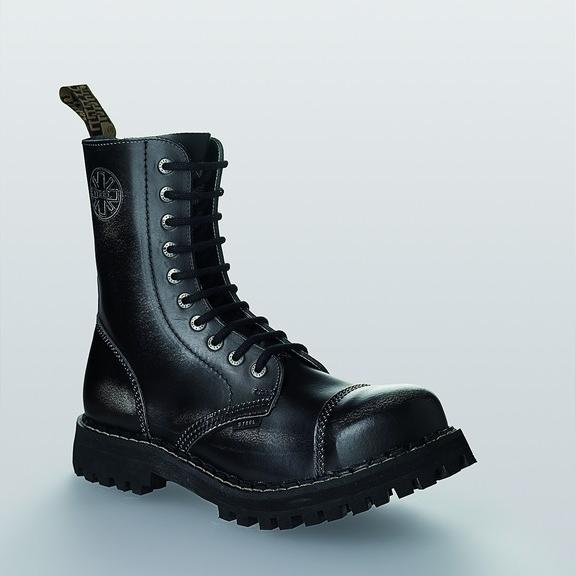 Bocanci Steel Boots Old Black 10 inele