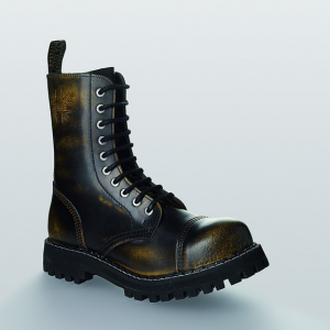 Bocanci Steel Boots Black Yellow 10 inele