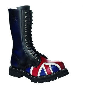 Bocanci Steel Boots Blue UK Flag 15 inele