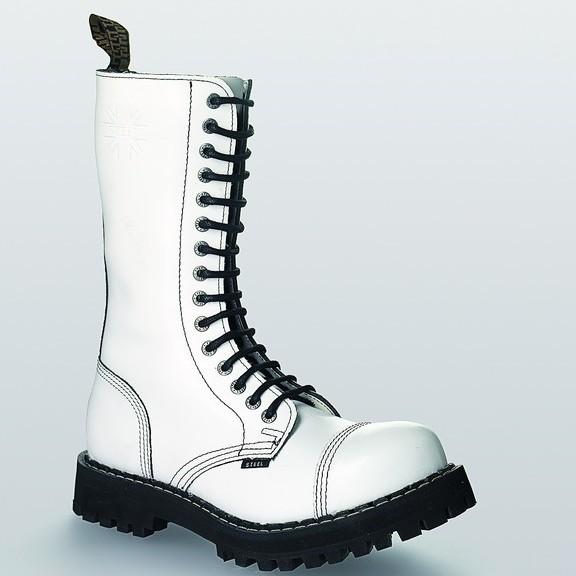 Bocanci Steel Boots Full White 15 inele