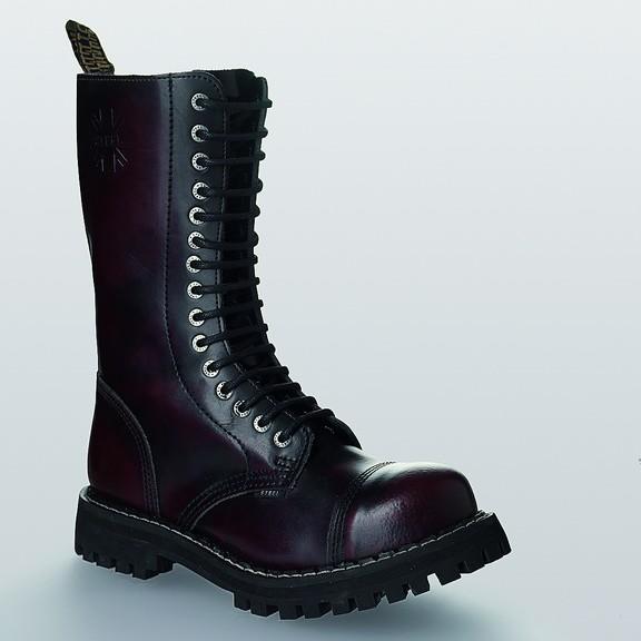 Bocanci Steel Boots Burgundy 15 inele