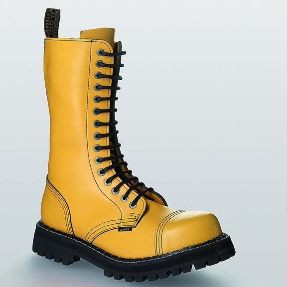 Bocanci Steel Boots Full Yellow 15 inele