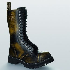 Bocanci Steel Boots Black Yellow 15 inele