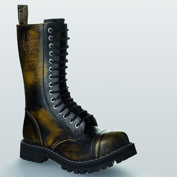 Bocanci Steel Boots Black Yellow 15 inele