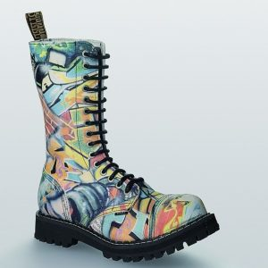 Bocanci Steel Boots Graffiti 15 inele