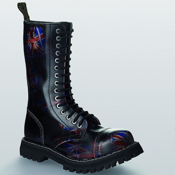 Bocanci Steel Boots Black UK Flag 15 inele