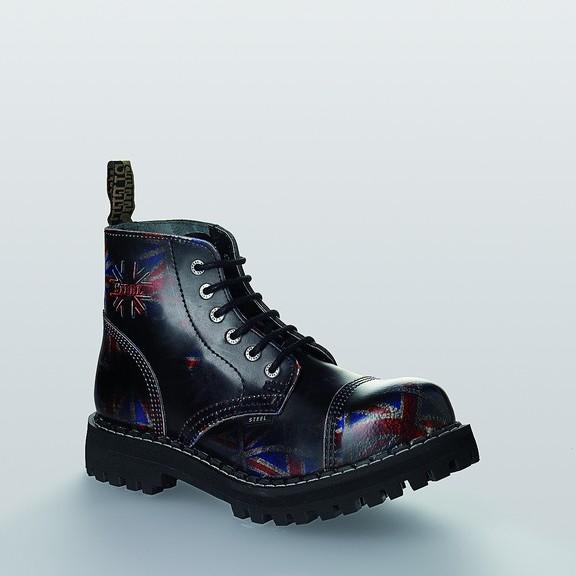Bocanci Steel Boots Black UK 6 inele