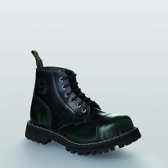 Bocanci Steel Boots Black Green 6 inele