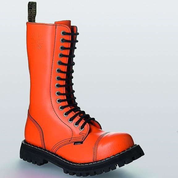 Bocanci Steel Boots Full Orange 15 inele