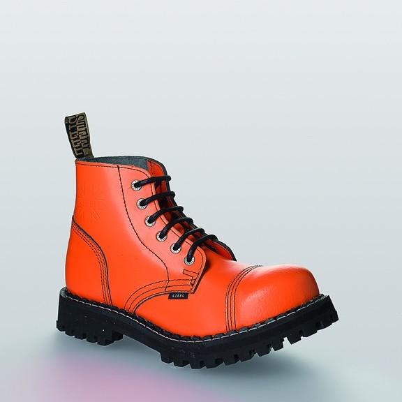 Bocanci Steel Boots Full Orange 6 inele