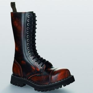 Bocanci Steel Boots Black Orange 15 inele