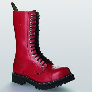 Bocanci Steel Boots Full Red 15 inele