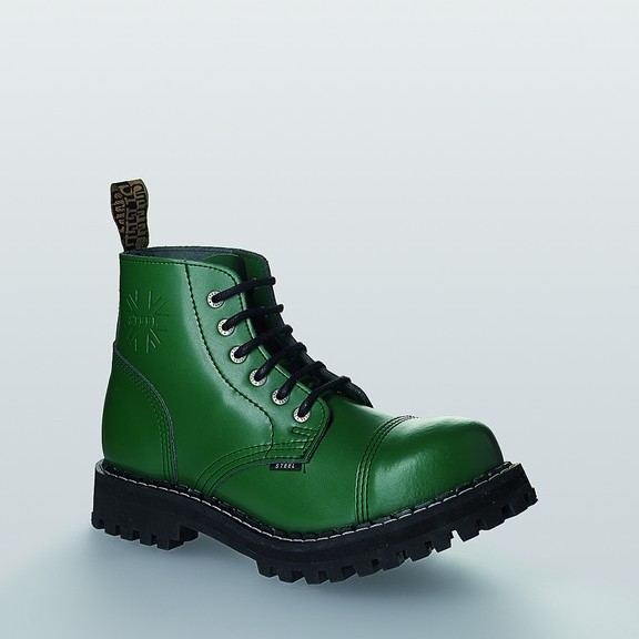 Bocanci Steel Boots Full Green 6 inele