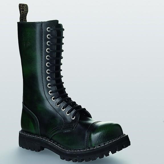 Bocanci Steel Boots Black Green 15 inele