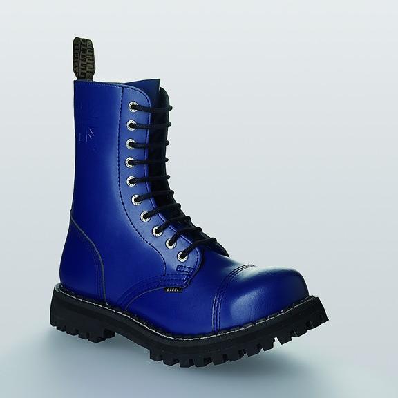 Bocanci Steel Boots Full Blue 10 inele