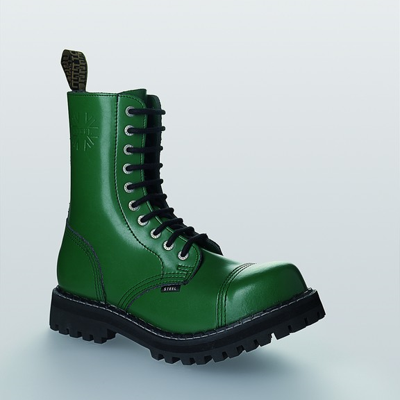 Bocanci Steel Boots Full Green 10 inele