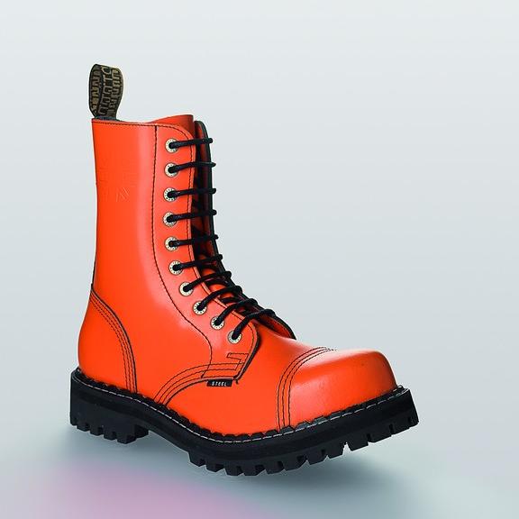 Bocanci Steel Boots Full Orange 10 inele