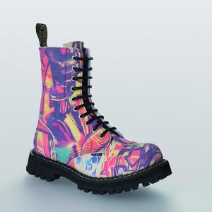 Bocanci Steel Boots Graffiti 10 inele
