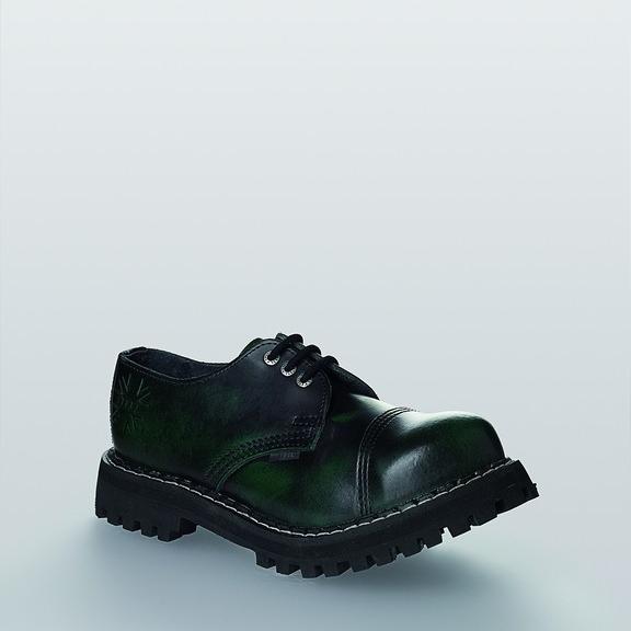 Bocanci Steel Boots Black Green 3 inele