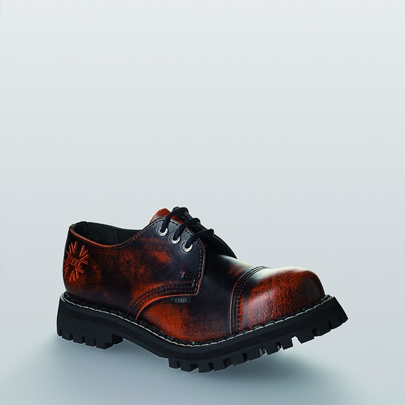 Bocanci Steel Boots Black Orange 3 inele