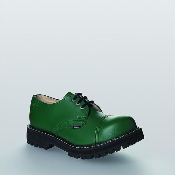 Bocanci Steel Boots Full Green 3 inele