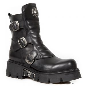Bocanci NEW ROCK Pure Black Low